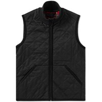 Fred Perry X Lavenham Quilted Tricot Gilet Black