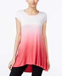 Joseph A Ombre Swing High Low Tunic Azalea