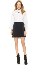 Harvey Faircloth Panel Tunic Dress White Navy
