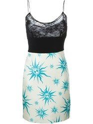 Fausto Puglisi Floral Lace Panel Cami Dress Black