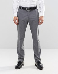 Selected Homme Suit Trousers With Stretch In Slim Fit Mid Grey