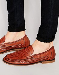 New Look Woven Loafers In Tan Tan