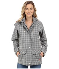 Ariat Gladstone Waterproof Parka Heather Gray Check Women's Coat