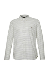 French Connection Boilly Stripe Slim Fit Long Sleeve Shirt Yellow