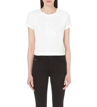 Calvin Klein White Series Logo Cotton T Shirt Bright White