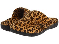Vionic With Orthaheel Technology Gemma Mule Slipper Tan Leopard Women's Slippers Animal Print