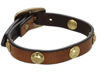 Frye Stud Wrap Cuff Camel Soft Vintage Leather Bracelet Tan