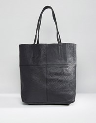 Warehouse Leather Shopper Bag Black