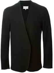 Maison Margiela Ribbed Collarless Blazer Black