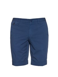 Incotex Slim Fit Cotton Blend Twill Chino Shorts Navy