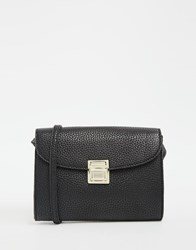 Monki Clasp Front Cross Body Bag Black