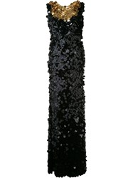 Sonia Rykiel Sequin Maxi Dress Black