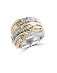 Effy Duo Diamond 14K Yellow Gold And 14K White Gold Ring 0.65 Tcw Two Tone
