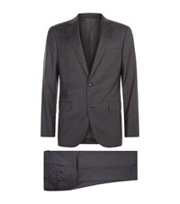 Pal Zileri Micro Check Suit Male Grey
