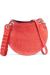 Emilio Pucci Leather And Suede Shoulder Bag Coral
