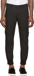 Neil Barrett Black Skinny Cargo Trousers