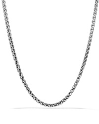 David Yurman Small Wheat Chain Necklace 16 Silver