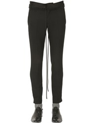 Haider Ackermann Lace Up Waistband Wool Gabardine Pants