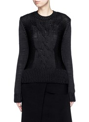Ms Min Cable Knit Sweater Black