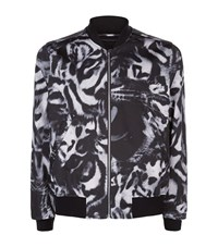 Paul Smith Ps By Large Leopard Bomber Jacket Male Black