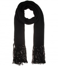 Helmut Lang Black Wool And Cashmere Blend Scarf