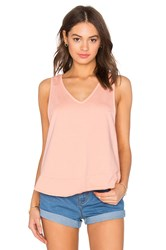 Bobi Light Weight Cashmere Terry Crossback Tank Peach