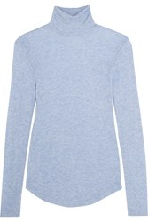 J.Crew Tencel And Cashmere Blend Turtleneck Sweater Light Blue