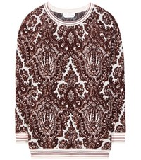 Chloe Printed Velour Sweater Multicoloured