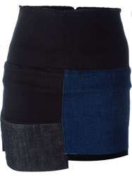 Aries 'Rowford Mini Patchwork' Skirt Black