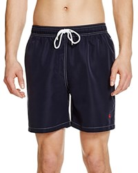 Brooks Brothers Montauk Solid Swim Trunks Brooks Navy