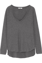 Lna Cutout Jersey Top Gray