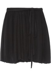 Etoile Isabel Marant Akili Georgette Wrap Mini Skirt Black