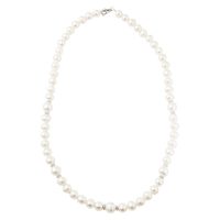A B Davis Sterling Silver Freshwater Pearl Necklace Silver