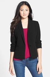 Petite Women's Anne Klein One Button Blazer Black