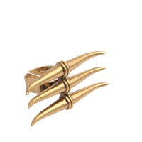 Tory Burch Metal Triple Horn Ring