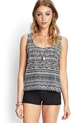 Forever 21 Tribal Print Burnout Tank