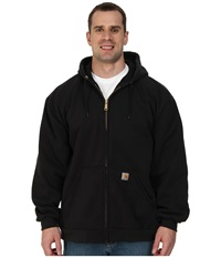 Carhartt Big Tall Rain Defender Rutland Thermal Lined Hooded Zip Front Sweatshirt Black Men's Sweatshirt