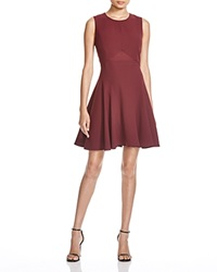 Dylan Gray Sheer Paneled Fit And Flare Dress