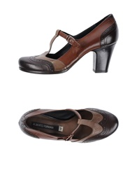 Alberto Fermani Ballet Flats Brown