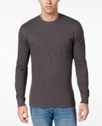Club Room Men's Jersey Cotton Long Sleeve T Shirt Only At Macy's Charcoal Heather