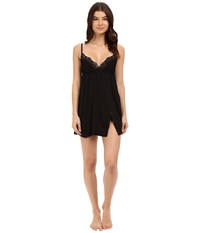 Only Hearts Club Venice Lace Cup Babydoll Black Women's Pajama