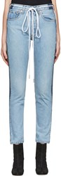 Levis C O Off White Ssense Exclusive Indigo Twig High Slim Join Jeans