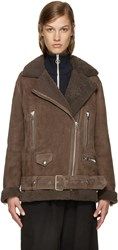 Acne Studios Brown Shearling More Jacket
