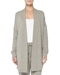 Hanro West Broadway French Terry Open Front Cardigan Griege Melange