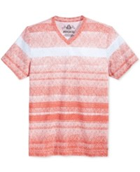 American Rag Men's Day Stripe T Shirt Only At Macy's Weathered Red