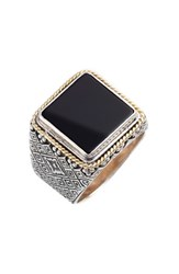 Men's Konstantino 'Minos' Square Etched Ring