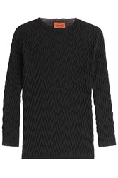 Missoni Knit Cotton Pullover Black
