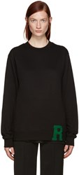 Raf Simons Black 'R' Sweater