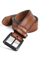 Men's Big And Tall Johnston And Murphy Leather Belt Tan Black