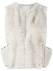 Valentino 'Rockstud' Gilet Nude And Neutrals